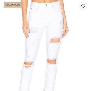 Karolina high rise grlfrnd white jeans